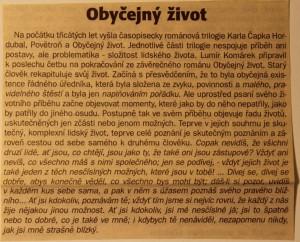 Čapek Karel - Obyčejný život - Anotace TR