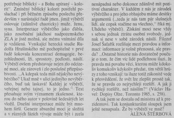 Štěrbová, Alena - Výběrčí 2. In Scéna 19-1990