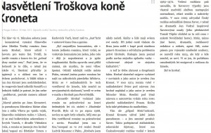 Chuchma, Josef - Nasvětlení Troškova koně Kroneta. In Lidové noviny, 30. 3. 2013 (článek).