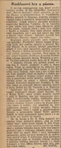 Havel, Miloslav - Rozhlasové hry a pásma. In Národní listy, 14. 5. 1941 (recenze).