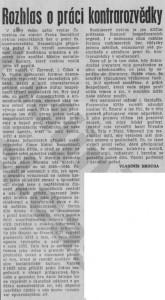 Hrouda, Vladimír - Rozhlas o práci kontrarozvědky. In Rudé právo, 4. 9. 1975, s. 5 (recenze).
