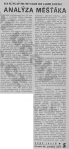 (JT) - Nad rozhlasovým festivalem her Maxima Gorkého. Analýza měšťáka. In Rudé právo, 16. 12. 1976, s. 5 (recenze).