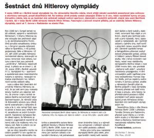 Sedláček, Tomáš - Šestnáct dnů Hitlerovy olympiády. In Týdeník Rozhlas, červen 2018 (článek).