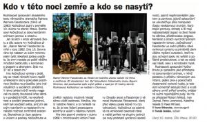 Shkaruba, Iryna - Soldán, Tomáš - Kdo v této noci zemře a kdo se nasytí. In Týdeník Rozhlas, duben 2018 (článek).