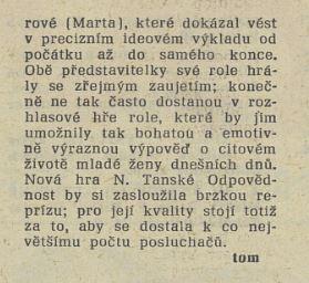 V rozhlase. In Tvorba 24-1981 (17. 6. 1981), s. 23 (recenze)03