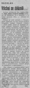 (hj) - Všichni se zbláznili. In Rudé právo, 1. 8. 1976, s. 5 (recenze).